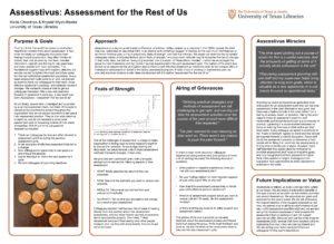"""Assesstivus: Assessment for the Rest of Us"" poster."