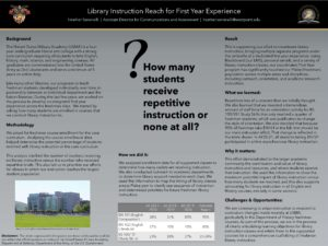 """Library Instruction Reach"" poster."