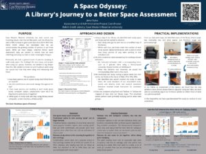 """A Space Odyssey: A Library's Journey to a Better Space Assessment"" poster."