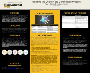 """""""Including the Users in the Cancellation Process"""" poster."""