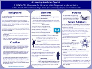 """A Learning Analytics Toolkit"" poster."